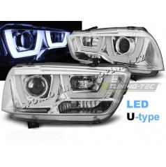 Dodge Charger LX II 2011-15 přední čirá světla Tube Light Chrome (LPDO13)
