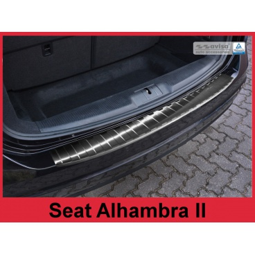 Nerez kryt- černá ochrana prahu zadního nárazníku Seat Alhambra II 2010+