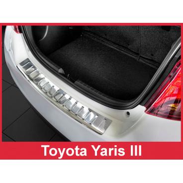 Nerez kryt- ochrana prahu zadního nárazníku Toyota Yaris III 2014-17
