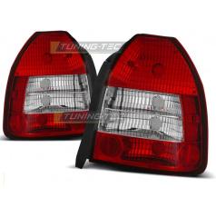 Honda Civic 09.95-02.01 3d zadní lampy red white (LTHO06)