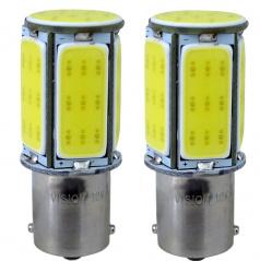 Žárovka LED BA15S bílé CANBUS 12/24V 6X COB 2ks