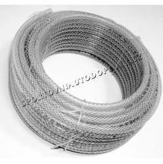 Průhledná hadice zesílená opletená 5,8,10, 16 mm (cena za 1 m)