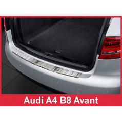 Nerez kryt- ochrana prahu zadního nárazníku Audi A4 B8 Combi 2008-12