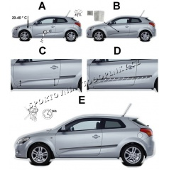 Boční ochranné lišty dveří - Chevrolet Cruze, 2009 - 2011