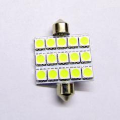 15 velkých LED žárovka sulfit bílá 42 mm II - 1 ks