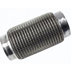 Nerez pružný díl / vlnovec 90x200 mm s ochranným opletem