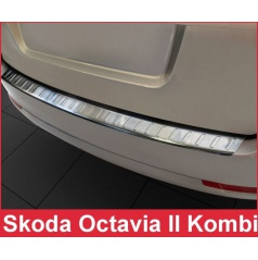 Nerezový kryt zadního nárazníku matný Škoda Octavia II kombi 2004-13