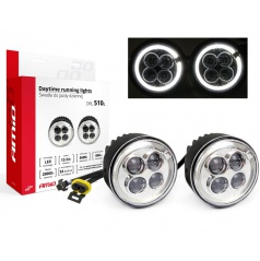 Světla denního svícení DRL510L 70 mm 2x4 EXTRA LED (styl Porsche)