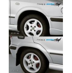 Škoda Felicia Facelift od r.v. 98 Nástavky Lemy blatníků normal - pro lak*