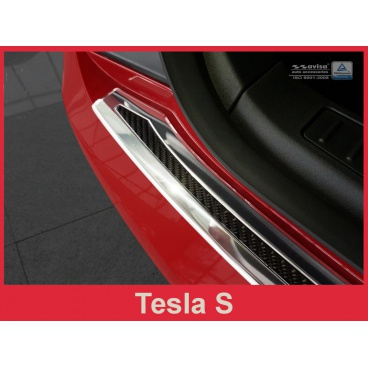 Carbon kryt- ochrana prahu zadního nárazníku Tesla S 2012-17