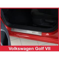 Nerez ochranné lišty prahu dveří 4ks Volkswagen Golf 7 2012-16