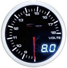Přídavný budík Depo Racing Voltmeter Dual 52 mm