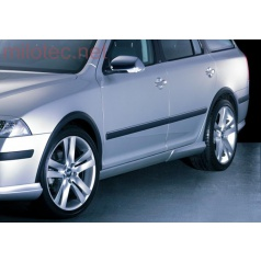 Lemy blatníků, ABS černý s rastrem, Škoda Octavia II + Facelift