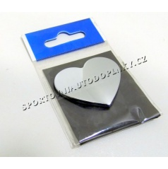 Chrom samolepící 3D logo srdce