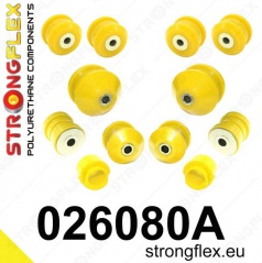 Škoda Superb 2002-08 StrongFlex Sport sestava silentbloků jen pro přední nápravu 12 ks