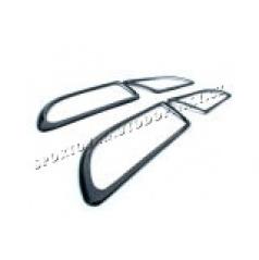 Škoda Octavia II - karbonové rámečky kolem vnitřních klik dveří