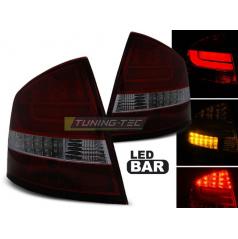 Škoda Octavia 2 Sedan 2004-12 zadní lampy red smoke LED BAR (LDSK12)