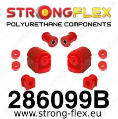 Nissan Sunny StrongFlex sestava silentbloků jen pro přední nápravu 7 ks