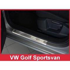 Nerez ochranné lišty prahu dveří 4ks Volkswagen Golf Sportsvan 2014+