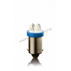 Žárovka parkovací T10 4 LED modrá bajonet