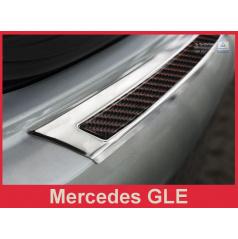 Carbon kryt- ochrana prahu zadního nárazníku Mercedes GLE 2015+