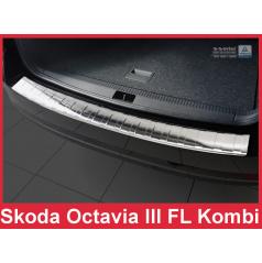 Nerez kryt- ochrana prahu zadního nárazníku Škoda Octavia III FL kombi 2016+