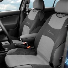 Potah sedadla TRIKO přední 2 ks tmavě šedý