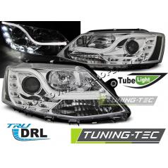 VW Jetta VI 1.2011-  přední čirá světla Tube Light TRU DRL chrome (LPVWL4)