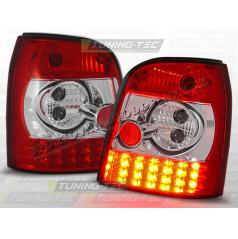 AUDI A4 (B5) AVANT 1994-00 ZADNÍ LED LAMPY RED WHITE (LDAU05)
