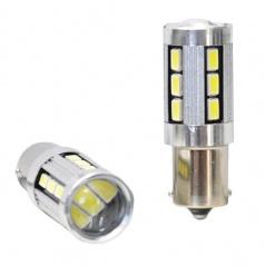 Žárovka LED BAY15D bílé CAMBUS 18LED 5730SMD 2ks