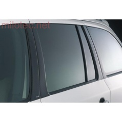Kryty dveřních sloupků Milotec - ABS černá metalíza, Škoda Octavia Combi