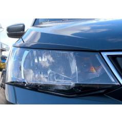 Kryty světlometů Milotec (mračítka) - ABS černá metalíza Škoda Fabia III