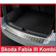 Nerezový kryt zadního nárazníku matný Škoda Fabia III 2015+