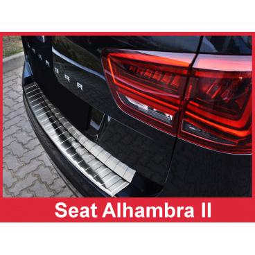 Nerez kryt- ochrana prahu zadního nárazníku Seat Alhambra II 2010-16