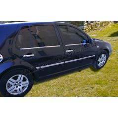 Volkswagen Golf IV - nerez chrom spodní lišty oken  - OMSA LINE