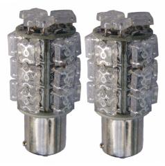 Žárovky 18 LED BAY15D červené 12V