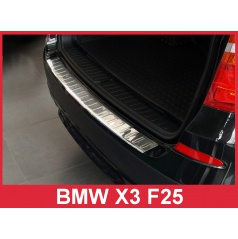 Nerez kryt- ochrana prahu zadního nárazníku BMW X3 F25 2010-14