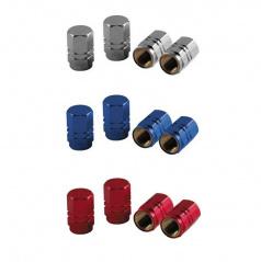 Čepičky na ventilky - alu šestihranné různé barvy sada 4 ks