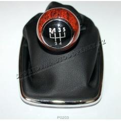 Kompletní řadící páka VW Golf IV 1,8/1,9 TDI/2,0 - imitace dřeva