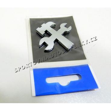 Chrom samolepící 3D logo nářadí