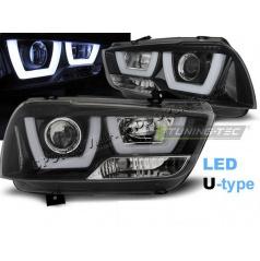 Dodge Charger LX II 2011-15 přední čirá světla Tube Light Black (LPDO14)