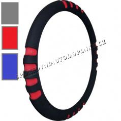 Potah na volant soft II červený, modrý, šedý 37-39 cm