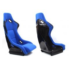 Sportovní pevná skořepina A1 RACING EVO VELUR BLUE