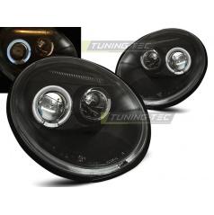VW New Beetle 10.98-05.05 predné číre svetlá Angel Eyes black (LPVW76)