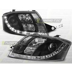 AUDI TT 1999-06 PŘEDNÍ ČÍRÁ SVĚTLA DAYLIGHT LED BLACK (LPAU50)