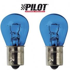 Sada žárovek s paticí Ba15S 12V 21W symetrická Xenon/blue - 2 ks