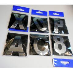 Chrom samolepící písmenka a znaky 58 mm
