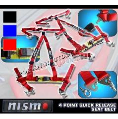 4 -bodové bezpečnostní pásy NISMO barva červená, černá, modrá