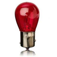 Žárovka 12V 21W BA15s (1-vláknová) červená