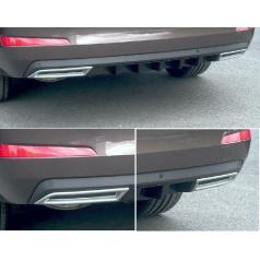 Difuzor zadního nárazníku - ABS černá metalíza - Škoda Octavia III Limousine / Combi